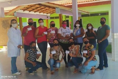 Secretaria de saúde vacina profissionais da educação da rede municipal e estadual de Reserva do Cabaçal
