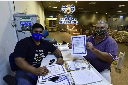 """Reserva do Cabaçal recebe 400 cestas básicas pela campanha """"Vem Ser Mais Solidário"""""""