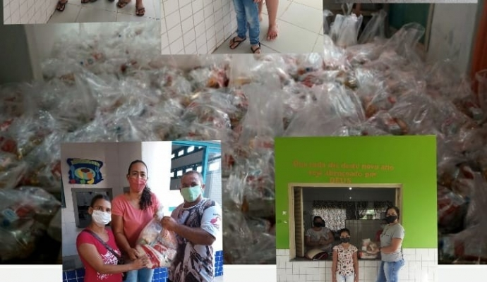 Teve início no 28/04 e segue até o dia 07/05 a entrega dos Kits Alimentação Escolar as famílias dos alunos na rede Municipal de ensino de Reserva do Cabaçal