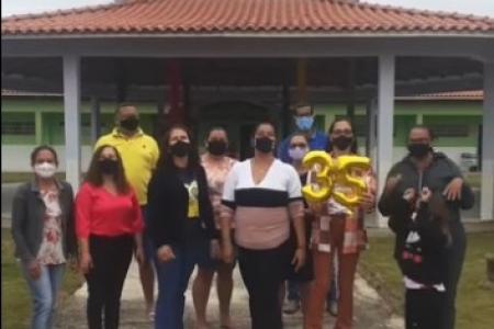 """Educadores de Reserva do Cabaçal se reinventam e trazem um novo projeto """"Nossa Cidade, Nossa Casa""""."""